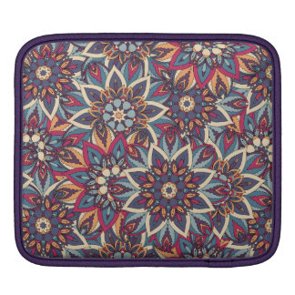 Buntes abstraktes ethnisches Blumenmandalamuster iPad Sleeve