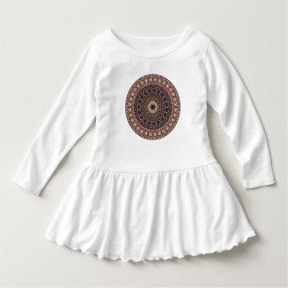 Buntes abstraktes ethnisches Blumenmandalamuster Kleid