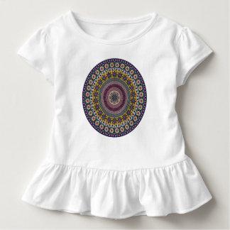 Buntes abstraktes ethnisches Blumenmandalamuster Kleinkind T-shirt