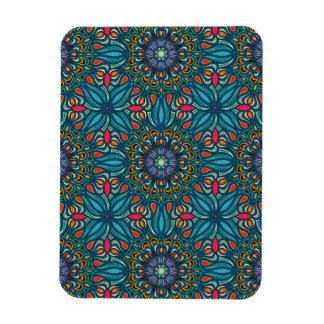 Buntes abstraktes ethnisches Blumenmandalamuster Magnet