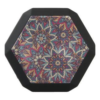 Buntes abstraktes ethnisches Blumenmandalamuster Schwarze Bluetooth Lautsprecher