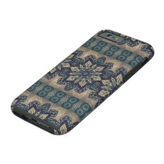 Buntes abstraktes ethnisches Blumenmandalamuster Tough iPhone 6 Hülle