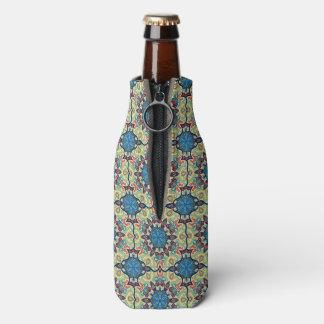 Buntes abstraktes ethnisches Blumenmandalamusterde Flaschenkühler