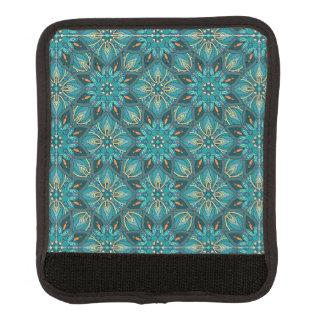 Buntes abstraktes ethnisches Blumenmandalamusterde Gepäckgriff Marker