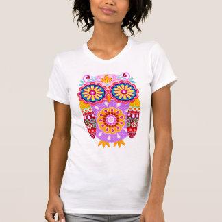 Buntes abstraktes Eulen-Shirt T-Shirt