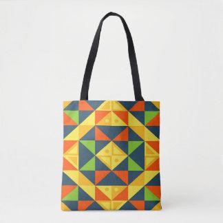Buntes abstraktes geometrisches Gitter Tasche