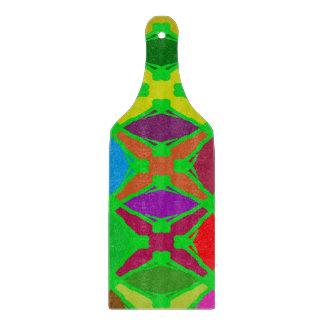 Buntes abstraktes hellgrünes und gefärbt schneidebrett