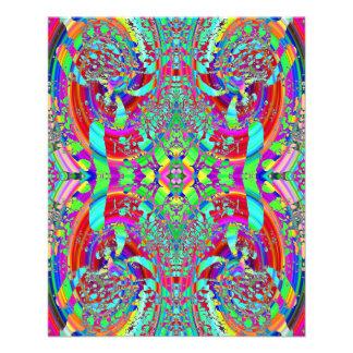 Buntes abstraktes Muster 11,4 X 14,2 Cm Flyer
