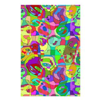 buntes abstraktes Muster Briefpapier Individuelles Druckpapier
