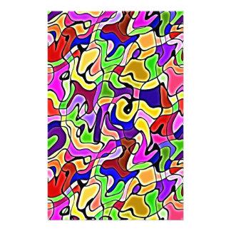 buntes abstraktes Muster Briefpapier Personalisiertes Büropapier
