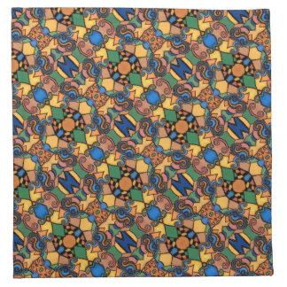 Buntes abstraktes Muster-helle Farben Serviette