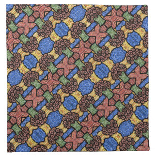 Buntes abstraktes Muster-helle mit Blumenfarben Stoffserviette