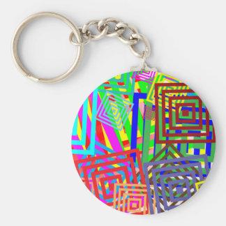 Buntes abstraktes Muster Schlüsselanhänger