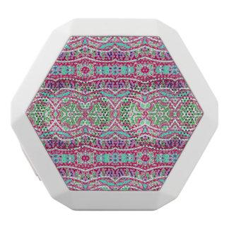 Buntes abstraktes rosa aquamarines Blumenmuster Weiße Bluetooth Lautsprecher