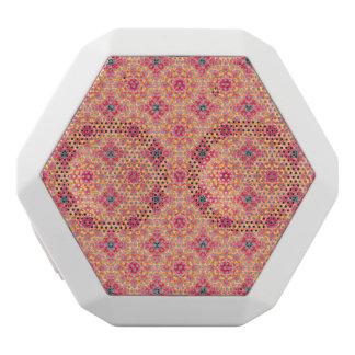 Buntes abstraktes rosa orange Blumenmuster Weiße Bluetooth Lautsprecher