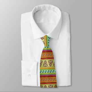 Buntes afrikanisches Masken-Streifen Kente Muster Personalisierte Krawatten
