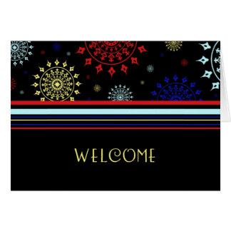 Buntes Angestellt-Willkommen zur Team-Karte Mitteilungskarte