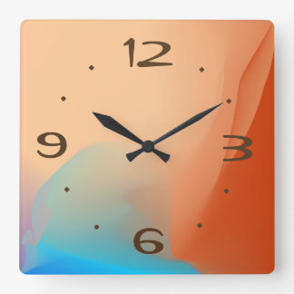 Buntes Aquarell mit TAN Nr. > einfache Uhren