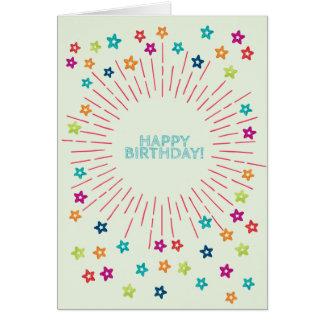 Buntes Aquarell spielt alles Gute zum Geburtstag Karte