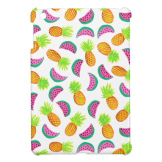 buntes Aquarellananas-Wassermelonemuster iPad Mini Hülle