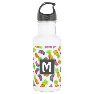 buntes Aquarellananas-Wassermelonemuster Trinkflasche