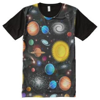 Buntes Astronomie-Raum-Shirt T-Shirt Mit Bedruckbarer Vorderseite