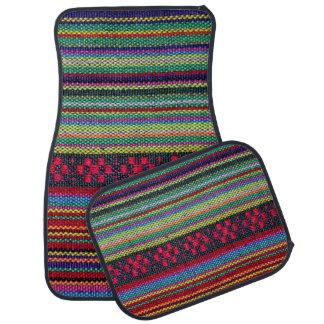 Buntes aztekisches Muster Autofußmatte
