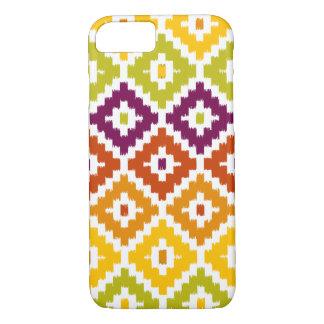 Buntes aztekisches Stammes- Druck Ikat iPhone 7 Hülle