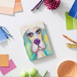 Buntes Basset Hound-Hundespaß-Aquarell iPad Mini Hülle