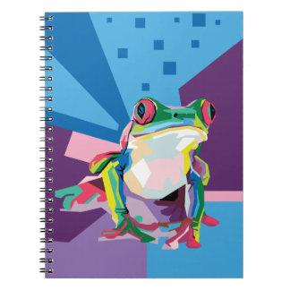 Buntes Baum-Frosch-Porträt Notizblock