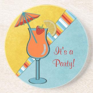 Buntes Beachtime Anlass-Party Untersetzer