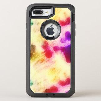 Buntes beflecktes Seidenpapier OtterBox Defender iPhone 8 Plus/7 Plus Hülle
