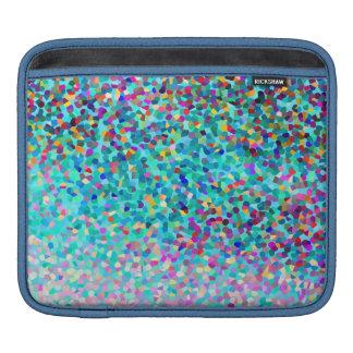 Buntes blaues mehrfarbiges abstraktes Kunst-Muster iPad Sleeve