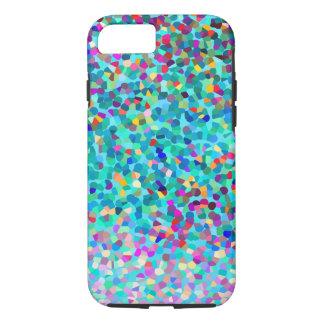 Buntes blaues mehrfarbiges abstraktes Kunst-Muster iPhone 7 Hülle
