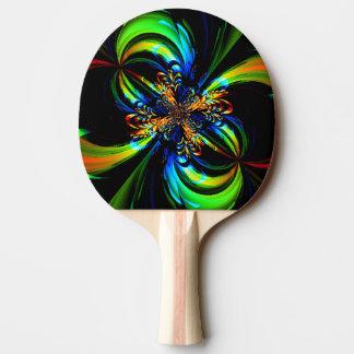 Buntes Blumen-Fraktal Tischtennis Schläger