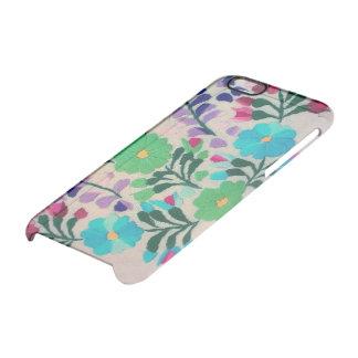 Buntes Blumen-Muster Durchsichtige iPhone 6/6S Hülle