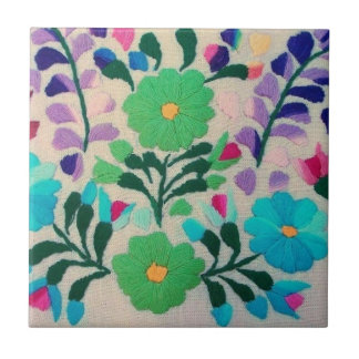 Buntes Blumen-Muster Kleine Quadratische Fliese