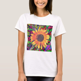 Buntes Blütebabydoll-Shirt T-Shirt