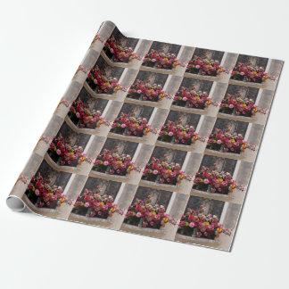 Buntes Bündel PlastikRosen Geschenkpapier