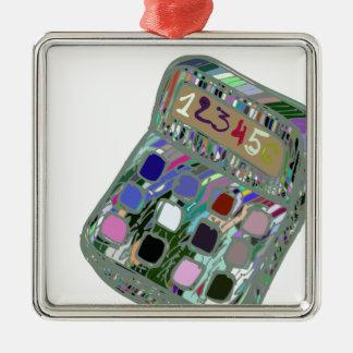 buntes calculator2 silbernes ornament