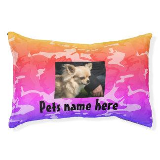 Buntes Camouflage-Haustier-Kissen (Ihr Haustiere Haustierbett