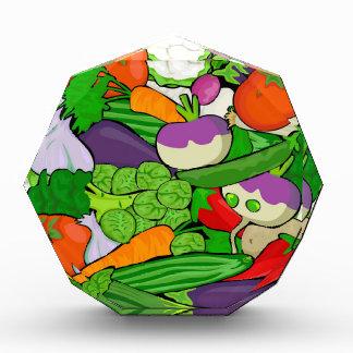Buntes Cartoon-Gemüse Acryl Auszeichnung