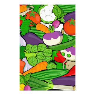 Buntes Cartoon-Gemüse Briefpapier