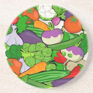 Buntes Cartoon-Gemüse Getränkeuntersetzer