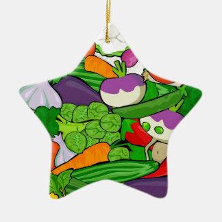 Buntes Cartoon-Gemüse Keramik Ornament