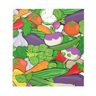 Buntes Cartoon-Gemüse Notizblock
