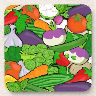 Buntes Cartoon-Gemüse Untersetzer