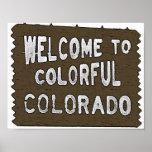Buntes Colorado-Willkommensschild-Sondergrößeplaka