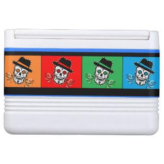 Buntes cooleres mit Voodoo-Kocherlogo Igloo Kühlbox