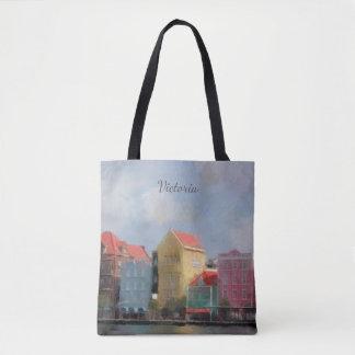 Buntes Curaçao personalisiert Tasche